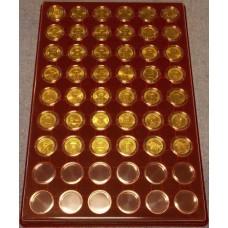 Набор памятных монет 10 рублей (гальваника) в планшете.