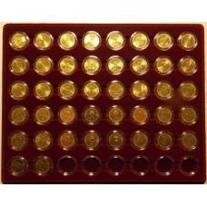 Набор памятных монет 10 рублей (гальваника) в планшете.  48 ячеек