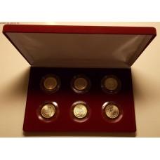 Памятный набор 10-ти рублевых монет (биметалл)  2016 года  в ФУТЛЯРЕ